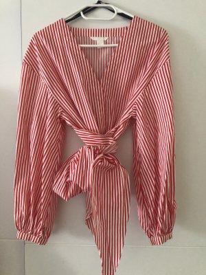 H&M Kopertowa bluzka biały-czerwony