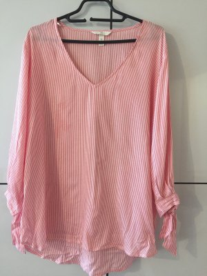 H&M Shirt Blouse white-bright red