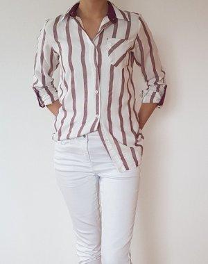 Bluse/ gestreifte bluse/ weiße bluse/ oberteil/ shirt/ t-shirt
