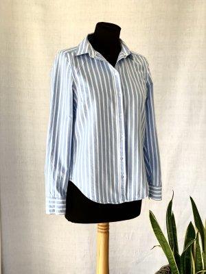 Bluse Gina Tricot blau/weiß Bio Baumwolle