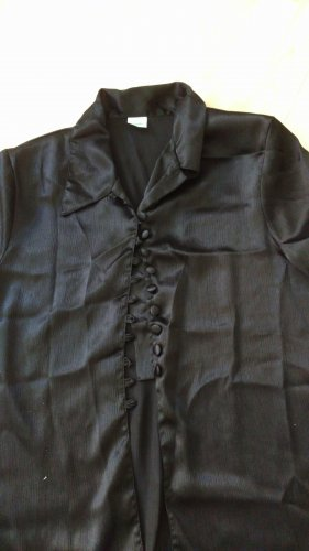 Canda Glanzende blouse zwart