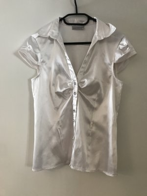 Clockhouse Sleeveless Blouse white-silver-colored polyester