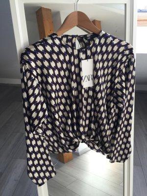 Bluse Glanz Mit Muster Zara S