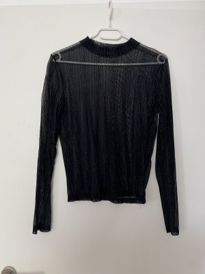 Tally Weijl Long Sleeve Blouse black-silver-colored
