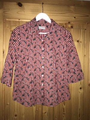 Gloriette Vienna Tradycyjna bluzka ciemnoczerwony-biały