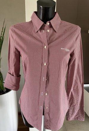 Marc O'Polo Shirt Blouse white-carmine cotton