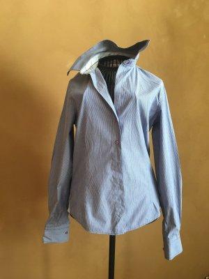 Milano Shirt Blouse white-cornflower blue