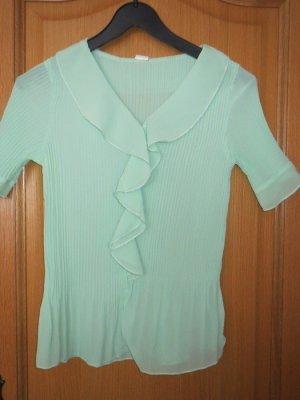 Bluse, Gr.36/S, V-Ausschnitt, mint, Vintage