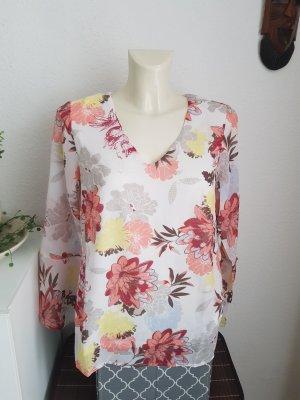 b.p.c.fashion Bluzka z długim rękawem biały-brzoskwiniowy