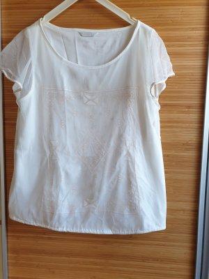 Promod Koronkowa bluzka w kolorze białej wełny