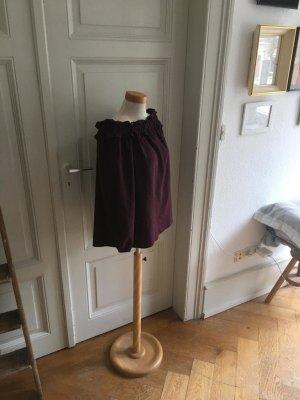 Miss Selfridge Carmen blouse bordeaux