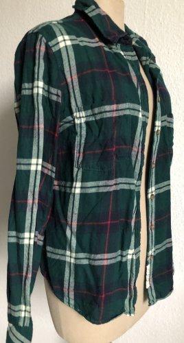 H&M Blusa a cuadros verde oscuro-verde bosque