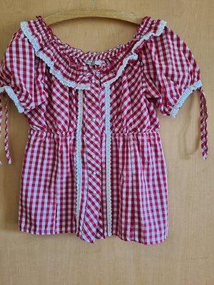 Esmara Tradycyjna bluzka biały-czerwony