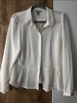 H&M Zijden blouse wit-wolwit