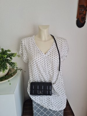 b.p.c. Bonprix Collection Blouse met korte mouwen wit-zwart
