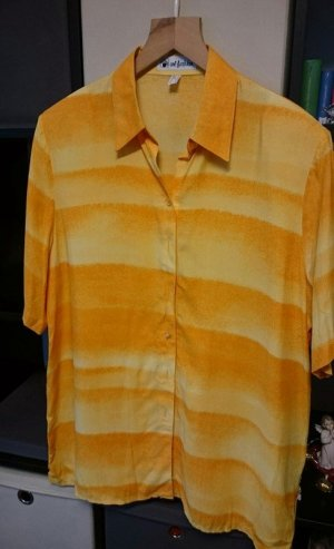 Art Short Sleeved Blouse light orange viscose