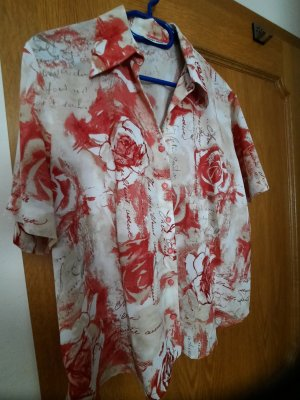 Gerry Weber Camicetta a maniche corte crema-rosso mattone