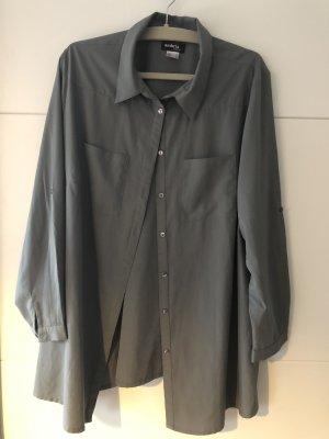 Bluse Gr.50 sehr chic grau