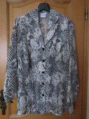 Bluse, Gr.50/XL,neu, schwarz-beige, Langarm