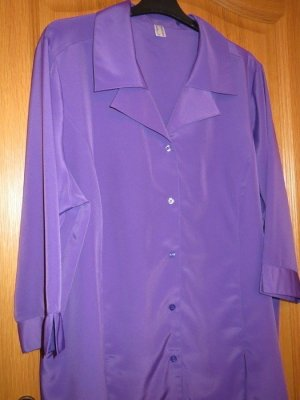 Bluse, Gr.52/XL, lila, neu