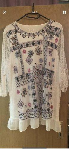 Bluzka marszczona biały