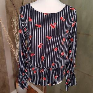 Davantino (per blusa) rosso scuro-blu scuro