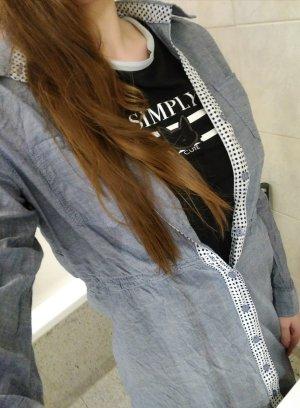 Vestido tipo blusón gris pizarra