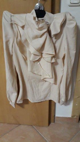 Bluzka ze stójką kremowy