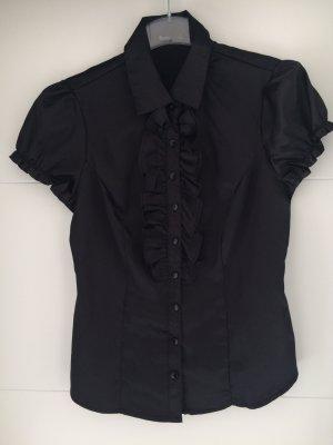 Bluse Gr. M/L, schwarz glänzend *NEU* flame