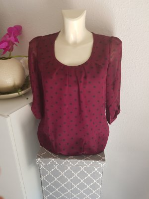 Ashley Brooke Tunic Blouse carmine-bordeaux