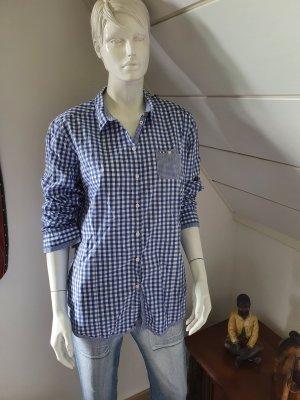 Napapijri Shirt Blouse white-steel blue