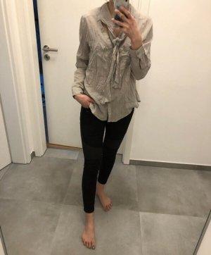 Bluse grau beige Pullover Mode blogger Fashion xs s 34 36