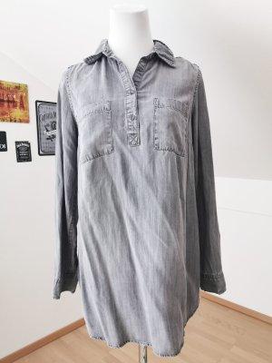 Blusa taglie forti grigio-grigio scuro