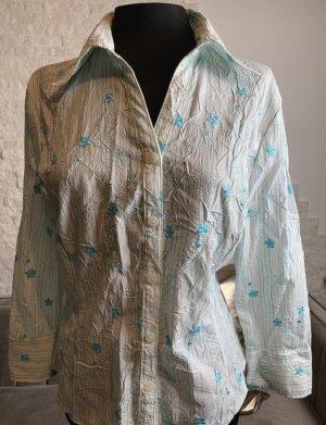 keine Cols de blouses blanc cassé-bleu azur