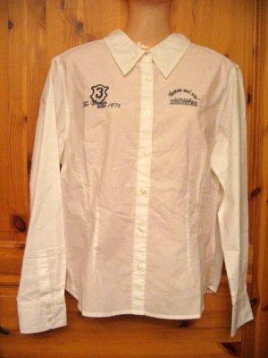 Koszulowa bluzka biały