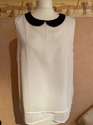 FB Sister Blusa senza maniche bianco-nero