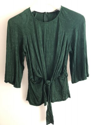Zara Blouse avec noeuds vert forêt