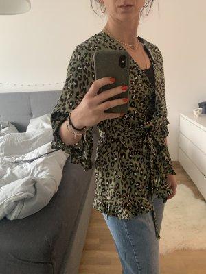 AX Paris Jedwabna bluzka oliwkowy