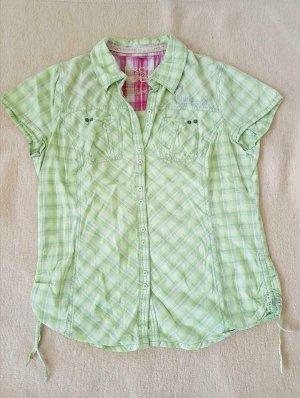 Bluse grün, gelb, weiß kariert Größe 42