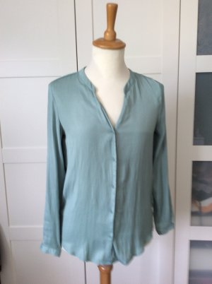 Bluse, grün, mint, langärmelig, Punkte, H&M, Gr. 36