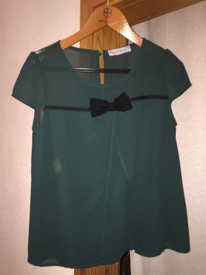 Bluse grün schwarz