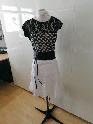 Guess Short Sleeved Blouse black-white