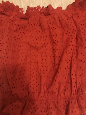 H&M Divided Blusa tipo body rojo