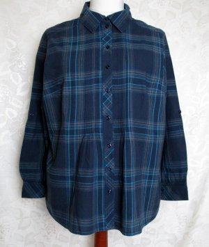 H&M Blusa a cuadros azul
