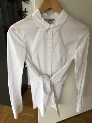 Bluse H&M Bindedetail weiß 36