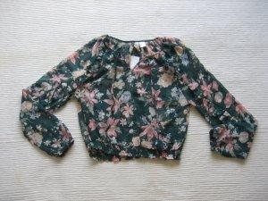 bluse H&m blumen floral gr. s 36 neu