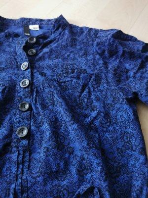 Bluse H & M Divided Gr. 38 blau-schwarz