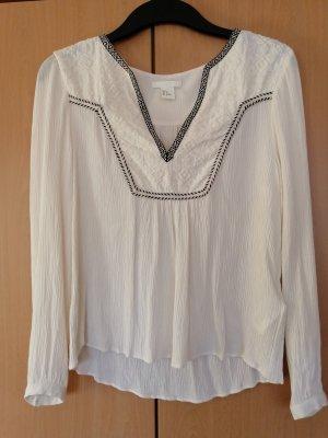 H&M Blusa Crash bianco sporco