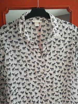 Bluse H&M Gr  36 Zebras