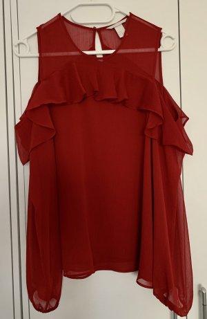 Bluse H&M rot Offshoulder 38/M Neu Fashion Damen